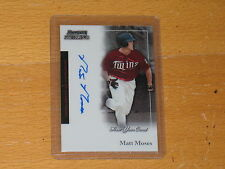 2004 BOWMAN STERLING  MATT MOSES AUTO AUTOGRAPH FY AU RC CARDS  # BS-MM
