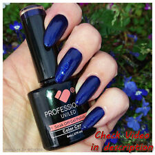 *599* VB™ Line Dark Blue Shiny Metallic Colour  UV/LED Soak Off Nail Gel Polish
