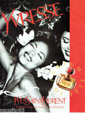 PUBLICITE ADVERTISING 066  1996  Yves Saint Laurent parfum femme Yvresse