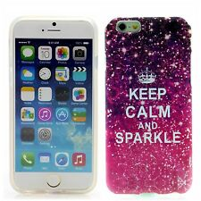 Apple iPhone 6 (4,7') in SILICONE CUSTODIA GUSCIO PROTETTIVO COVER ASTUCCIO Keep Calm and Sparkle