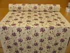 12 Metre Berry Floral Linen Blend Embroidered Designer Curtain Upholstery Fabric