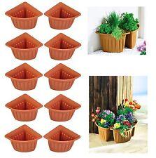 10x Fioriera Vaso angolare per piante da fiori terracotta Vasi di balcone