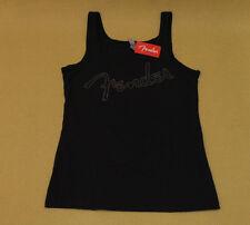 910-2221-606  Fender® Guitar Nailhead Print Logo Ladies Tank Top, Black, XL