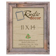 "11x14-2"" Wide Signature Reclaimed Rustic Barn Wood Wall Frame"
