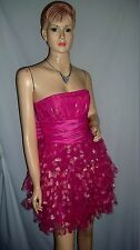 "Vintage BETSEY JOHNSON ""Two of Hearts"" Strapless Glitter Heart Tulle Dress 8-10"