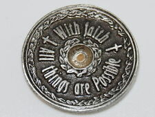"MUSTARD SEED Pocket Coin Token Christian Religious Gift Scripture 1 1/16"" pewter"