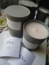 "DIOR La Rose SCENTED CANDLE 4"" SUPERIOR RARE BOUTIQUE CANDLE NEW GREY ROUND BOX"