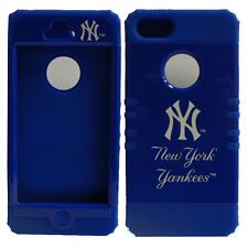 MLB Hybrid Impact Soft Silicone Cover Case for APPLE iPhone 5 New York Yankees