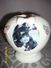 VINTAGE 1996 KIM ANDERSON HEART SHAPED  VASE *YOU'RE ONE IN A MILLION* USED