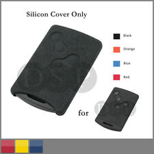 Leather Texture Silicone Cover fit for RENAULT Laguna Koleos Remote Smart CardBK
