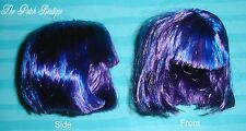 MONSTER HIGH CREATE A MONSTER WITCH GIRL DOLL PURPLE BLUE HIGHLIGHTS SHORT WIG