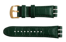"ORIGINAL SWATCH IRONY THE CHRONO ARMBAND ""GOLDEN HIDE GREEN"" (AYOG406) NEUWARE"