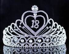 EIGHTEEN YEARS OLD 18 BIRTHDAY PARTY RHINESTONE TIARA CROWN HAIR COMBS T2305
