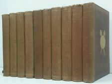 1857~WAVERLEY NOVELS~10 Brown Book Set~Old Decorative Lot~WOODSTOCK~ANTIQUITY