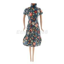 Traditional Chinese Qipao Cheongsam Dress Clothing Fits Barbie Dolls Clothes