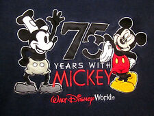 WALT DISNEY WORLD med crewneck sweatshirt 75 Anniversary Mickey Mouse Steamboat