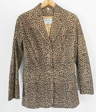 Pamela Mccoy Collections Leather Jacket Animal Pattern 2 Button Size S