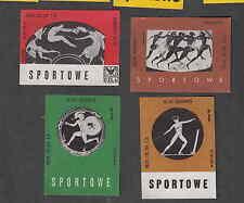 Série   étiquettes  allumettes Pologne V120 Sport Olympique Vélo Grêce Antique
