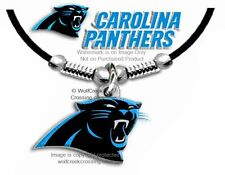 "CAROLINA PANTHERS NECKLACE for MALE or FEMALE - 24"" NFL GIFT SALE FREE SHIP #BL"