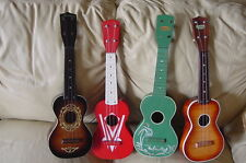 VINTAGE UKE COLLECTION ART DECO HARMONY NICE COLORS FOR DECORATION  SOPRANO UKES