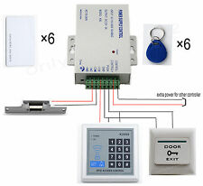 DIY Full RFID Card Door Access Control Kit With Electric Strike Lock Home 125KHZ