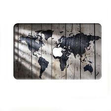 """Wood Skin Painted Hard Case Cover +Black KB +SP For Macbook Pro 13""""15""""Air 11""""12"""""""