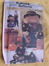 BUTTERICK SEWING PATTERN ~# 6298 SCARECROWS UNCUT FREE SHIP