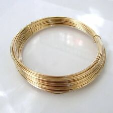14k Gold Filled Round Half Hard Wire - 18, 20, 22, 24, 26, 28 gauge, Made in USA