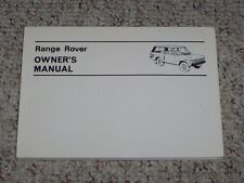 1970-1980 Land Rover Range Rover Owner User Manual 71 72 73 74 75 76 77 78 79