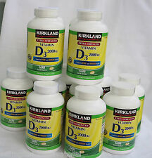Kirkland Vitamin D3 2000 IU  600 Softgels ~Extra  Strength~ Exp.APR 2018 UNISEX