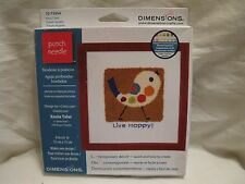 Dimensions Fancy Chick Live Happy! Punch Needle Kit #72-73554