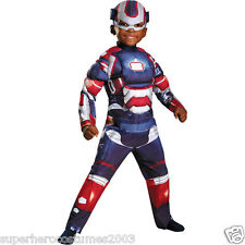 Iron Man 3 Iron Patriot Toddler Muscle Costume ARC REACTOR GLOWS! SIZE 2T -65691