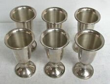 "6 TOWLE STERLING SILVER 3"" FLUTED CORDIAL CUPS"