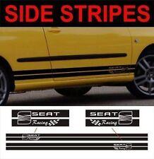 side stripes seat racing fits seat Ibiza leon toledo