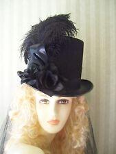 Black Steampunk Top Hat Civil War Halloween Victorian Hat Kentucky Derby Hat