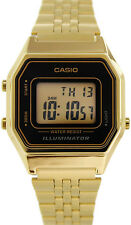 Casio LA680WGA-1D Ladies Gold Tone Digital Watch Mid-Size Retro Vintage New