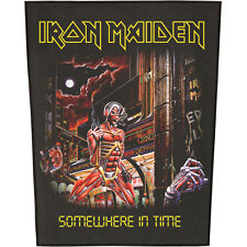 Iron Maiden Men's Somewhere In Time Back Patch Black