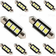 10STK 36mm CANBUS 3 LED 5050 SMD 6418 C5W Auto Lampe Kennzeichenbeleuchtung Weiß