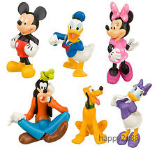 6pcs Disney Mickey Mouse Clubhouse Figure Figurine Cake Toppers Christmas Gift