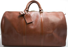 Louis Vuitton EPI KEEPALL 50 Reise Tasche Rare Weekender Bag Braun Brun Brown 1
