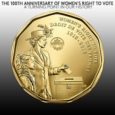 Canada 2016 Women's Right To Vote Commemorative Loonie Dollar Mint UNC. NEW!