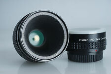 Vivitar 55mm F/2.8 Macro Lens 1:1 Komine for Pentax K-Mount manual w/2x Teleconv