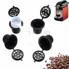 4X Réutilisable Compatible Filtre Café Capsules Dosettes pr Nespresso + Cuillère