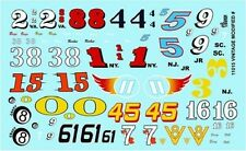 Gofer Racing Decals 1:24-1:25 Vintage Modified Car Number Decal Sheet 11015