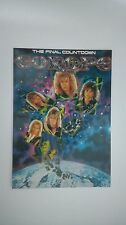 Europe the Final Countdown vintage music postcard POST CARD