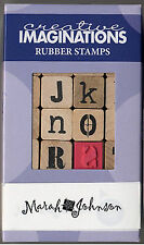 Marah Johnson CONFUSION ALPHABET Wood-Mounted Rubber Stamp Set (28) stamps