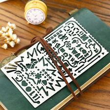 Stainless Steel Stencils Hollow Ruler Planner Travel Diary Notebook DIY Template