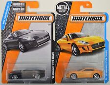 "2016 2017 Matchbox: '15 JAGUAR F-TYPE COUPE ""Black & Orange"" - 2 Car LOT Set NEW"