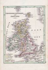 GROSSBRITANNIEN Ireland England Landkarte kolorierter Kupferstich um 1830 Wales