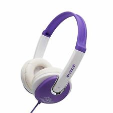 Groov-e Purple Kids Childrens Stereo Headphones GV590VW DJ Style Over The Ear